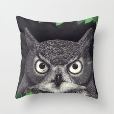 among the leaves (night) Throw Pillow