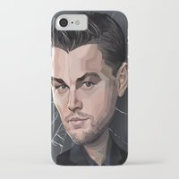 leonardo dicaprio iPhone & iPod Cases featuring DiCaprio Caricature by Stevie Ray Thompson