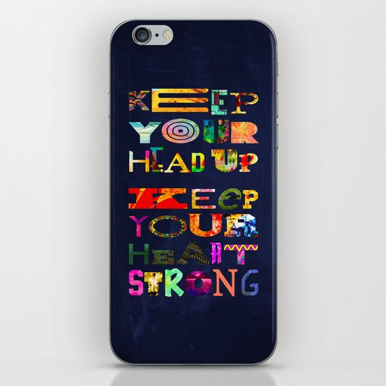 Keep your head up iPhone & iPod Skin