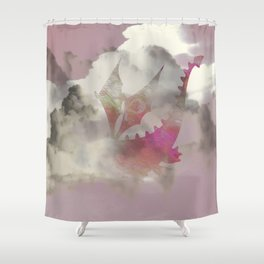 Pink Cloud Dragon Shower Curtain
