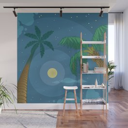 Supermoon Over Aruba Wall Mural