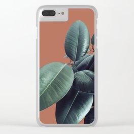 Ficus Elastica #17 #AutumnLeaf #foliage #decor #art #society6 Clear iPhone Case