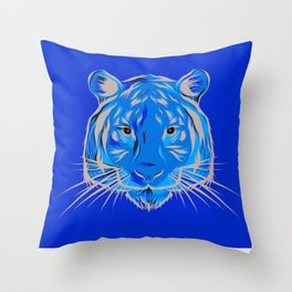 Inked Up Tiger Throw Pillow