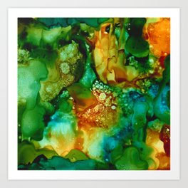 Emerald Impressions Art Print
