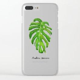 Monstera Deliciosa Clear iPhone Case