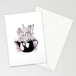 Happiness in a Teapot2 Stationery Cards