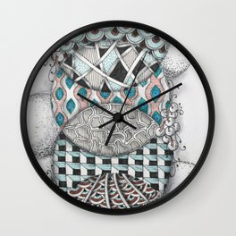 Overlapping Patterned Circles Wall Clock