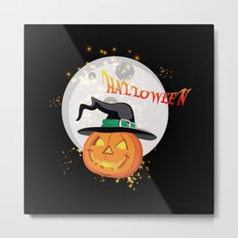 Halloween's pumpkin Metal Print