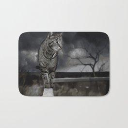 Cat Abstract Bath Mat