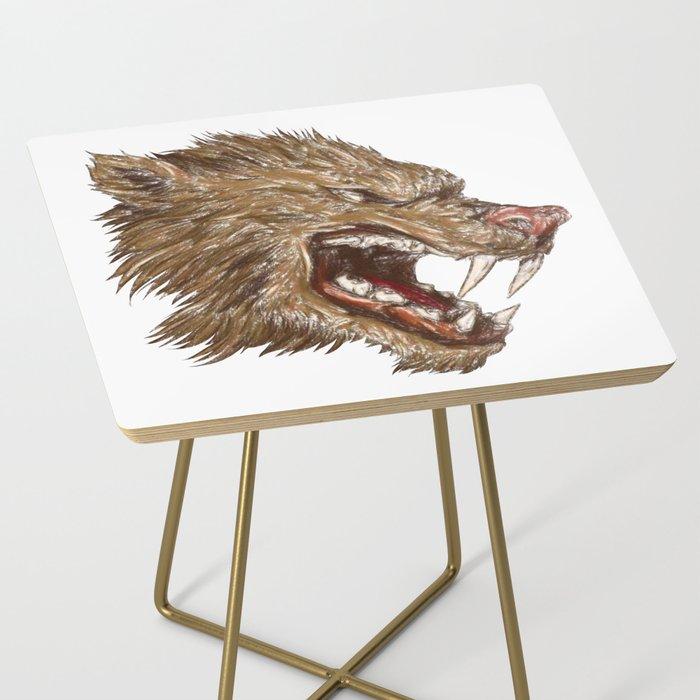 Head with sharp teeth Side Table