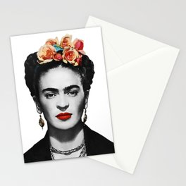 Mexican Beauty Portrait Artwork for Women Men and Kids Stationery Cards