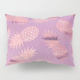 Pretty Pink & Rose Gold Pineapple Pattern Pillow Sham