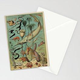 Adolphe Millot - Nouveau Larousse Illustré - Océanographie (Oceanography) (1910) Stationery Cards