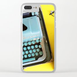 Typewriter and Vintage Books Clear iPhone Case