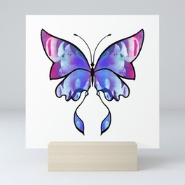 Purple Watercolour Butterfly Mini Art Print