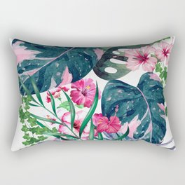 Tropical Plants Rectangular Pillow