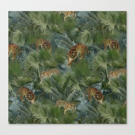 tigers in the wild Canvas Print