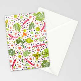 Fruits and vegetables pattern (7) Stationery Cards