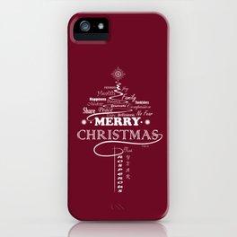 The Wishing Christmas Tree iPhone Case