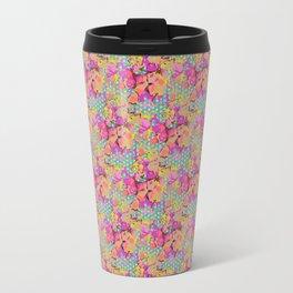 Flowers and dots Travel Mug