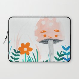 pink mushroom with floral elements Laptop Sleeve