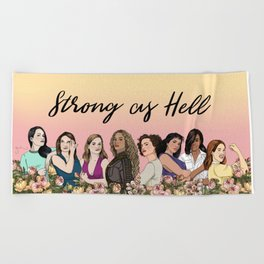Strong as Hell Beach Towel