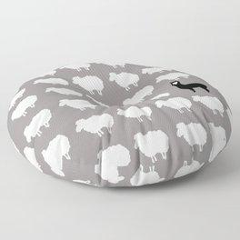 Don't be a sheep, Be a Llama Floor Pillow