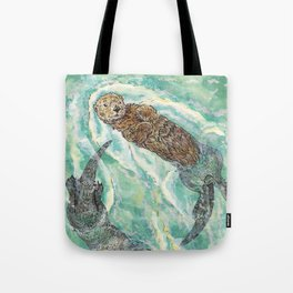Two Otters Tote Bag