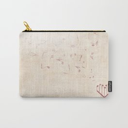 Music Heart old paper Carry-All Pouch
