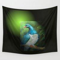 pigeon Wall Tapestries featuring NZ Native Pigeon Kereru by Patricia Howitt