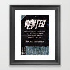Avengers - Heroes Wanted Framed Art Print