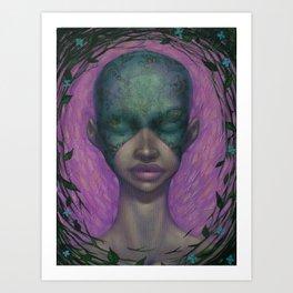 masked girl Art Print