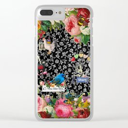 One Kiss Clear iPhone Case