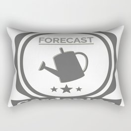 Weekend Forecast Gardening With Chance Of Drinking Rectangular Pillow