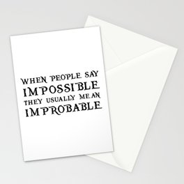 Improbable - Nikolai WHITE Stationery Cards