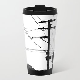 Power Lines at the bluff Metal Travel Mug