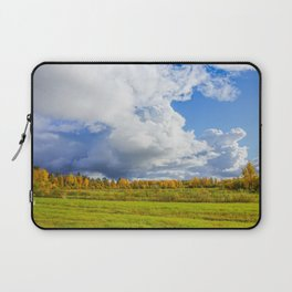 Rainclouds Over Field Laptop Sleeve