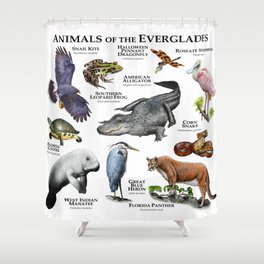 Animals of the Florida Everglades Shower Curtain