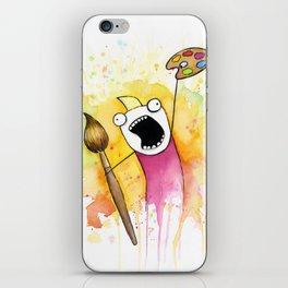 Meme Painting iPhone Skin
