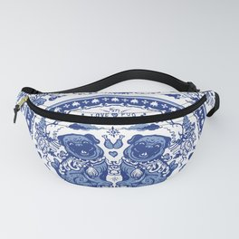 Pugs in Chinese Porcelain Fanny Pack