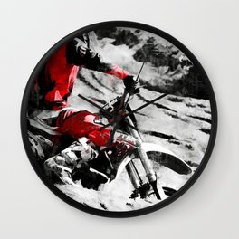 Owning The Mountain  -  Motocross Racer Wall Clock