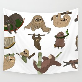 Sloth Party Wall Tapestry