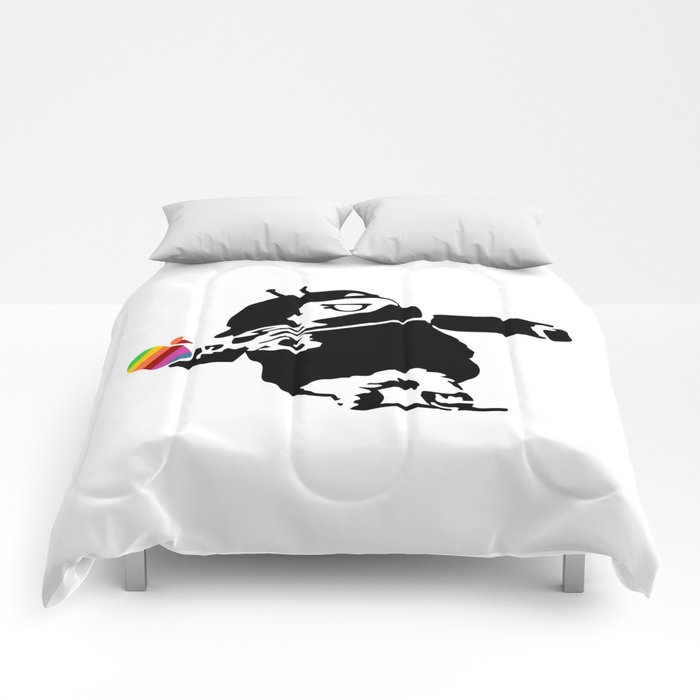 Banksy + Android = Bankdroid Comforters