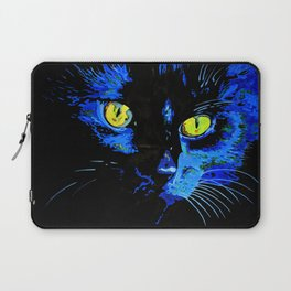 Marley The Cat Portrait With Striking Yellow Eyes Laptop Sleeve