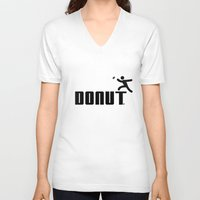 donut V-neck T-shirts featuring Donut by Daniac Design