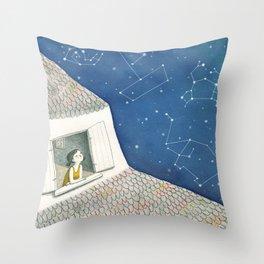 Dreamy night Throw Pillow