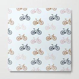 Bike pattern Metal Print