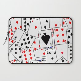 Random Playing Card Background Laptop Sleeve