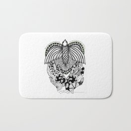 This goodbye is not forever Sympathy  - Zentangle Illustration Bath Mat