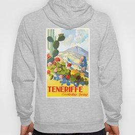 1945 Tenerife Everlasting Spring Spain Travel Poster Hoody